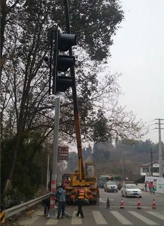 道路机动车信号灯施工
